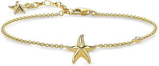 Thomas Sabo Gold Plated Sterling Silver Starfish Bracelet w/White Zirconia