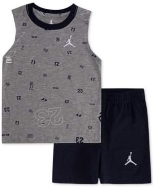 9f9d4a51c12 Jordan Little Boys 2-Pc. Cotton Printed Sleeveless T-Shirt & Shorts Set