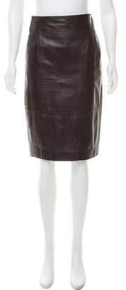 Les Copains Leather Pencil Skirt