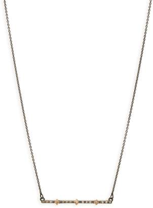 Armenta New World Multi Crivilli Diamond Bar Necklace