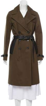 Tom Ford Leather Trim Trench Coat