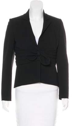 Valentino Bow-Accented Cropped Blazer