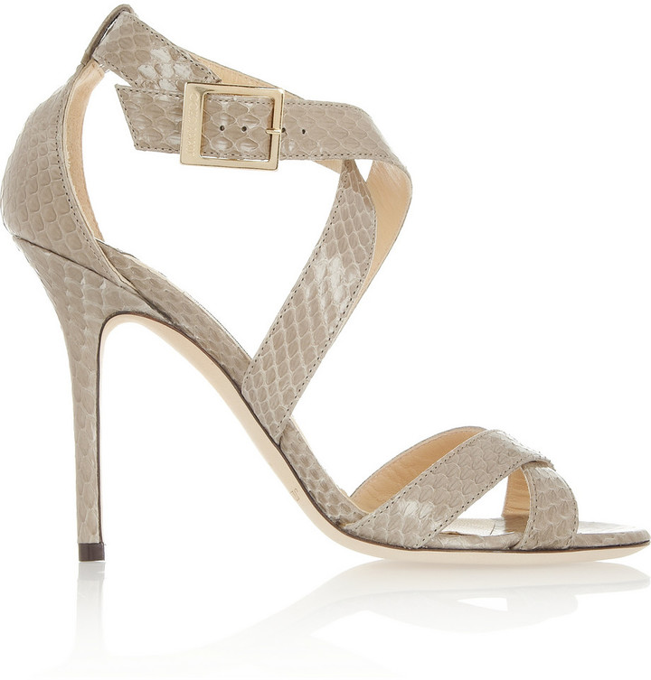 Jimmy Choo Lottie Elaphe Sandals