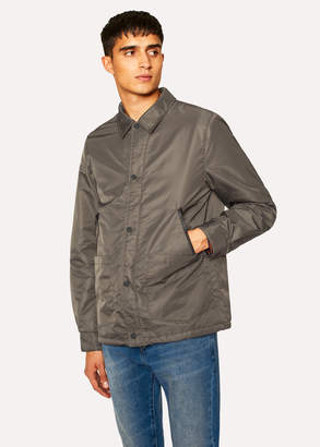 Paul Smith Men's Khaki Work Jacket With Contrast Fleece Lining