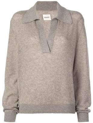 KHAITE Jo V Neck Cashmere Sweater