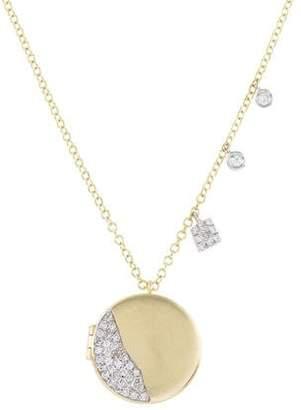 Meira T 14K Diamond Locket Pendant Necklace