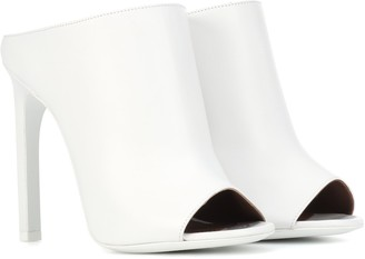 Givenchy Leather open-toe mules