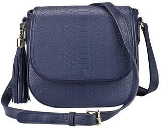 GiGi New York Kelly Embossed Tassel Saddle Bag