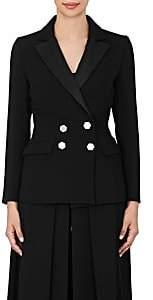 Osman Women's Ruby Suppressed-Waist Wool Blazer -Black