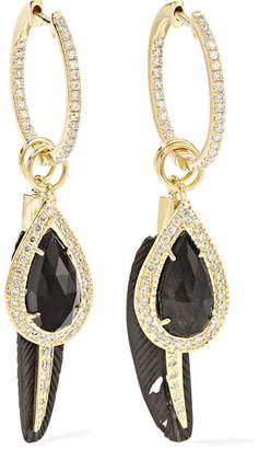 Jacquie Aiche 14-karat Gold Multi-stone Earrings - one size