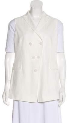 Akris Punto Double-Breasted Seersucker Vest