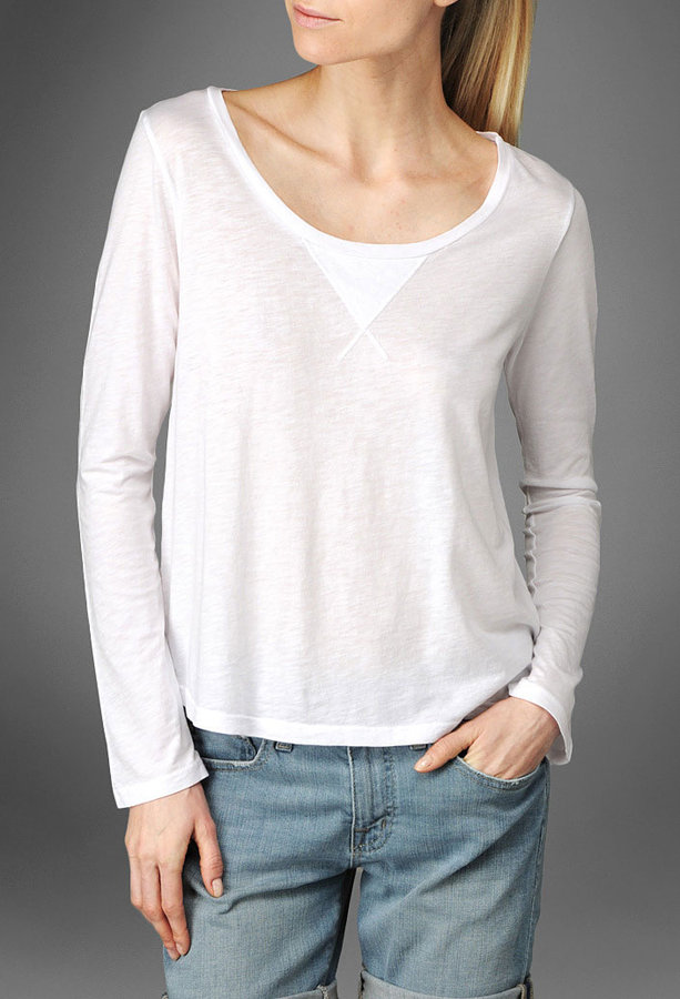 The Crop Bell Sleeve Tee - White