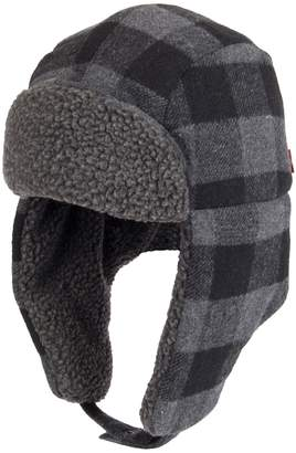 Levi's Levis Men's Buffalo Plaid Sherpa-Lined Trapper Hat