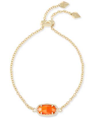 Kendra Scott Elaina Gold Adjustable Chain Bracelet in Orange