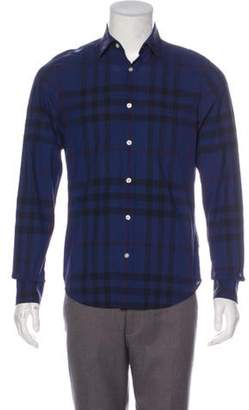 Burberry Exploded Check Shirt blue Exploded Check Shirt