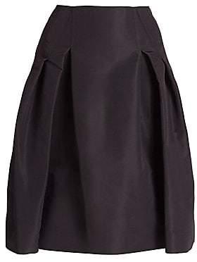 Carolina Herrera Women's Icon Collection Silk Faille Pleated Skirt