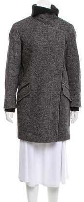 Vince Wool-Blend Short Coat
