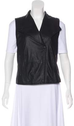 Vince Leather Moto Vest