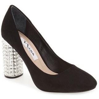 Nina 'Idabell' Crystal Embellished Column Heel Pump (Women) $128.95 thestylecure.com