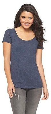 Women's Scoop Neck T-Shirt - Mossimo Supply Co. (Juniors') $9 thestylecure.com