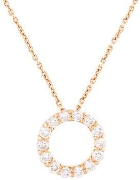 Roberto Coin 18K Diamond Open Circle Pendant Necklace