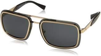 Versace Men's Mirrored VE2183-125287-63 Square Sunglasses