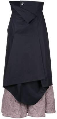 Enfold high-waist deconstructed layered skirt