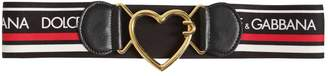 Dolce & Gabbana Heart Buckle High Waist Elastic Belt
