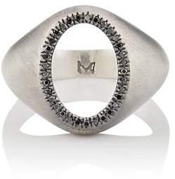 M. Cohen Men's The Ellipse Diamond Ring - Silver