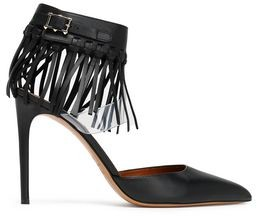 Valentino Fringed Leather And Pvc Pumps