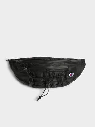 Champion Unisex C Life Script Waist Bag in Black