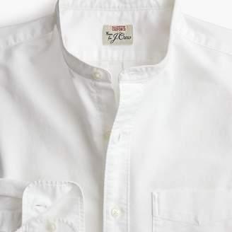 J.Crew Slim band-collar American Pima cotton oxford with mechanical stretch