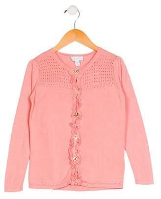 Marie Chantal Girls' Knit Long Sleeve Cardigan
