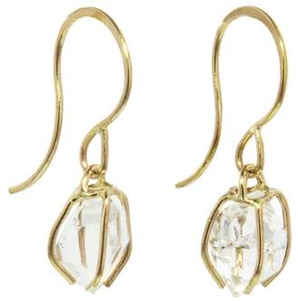 Melissa Joy Manning Herkimer Diamond Drop Earrings - Yellow Gold