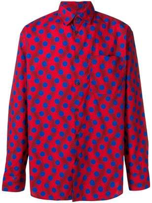 Kenzo polka dot print shirt