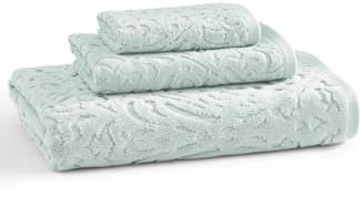 "Kassatex Firenze 100% Cotton Floral Jacquard 13"" x 13"" Washcloth Bedding"