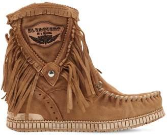 EL VAQUERO 70mm Cloe Fringed Suede Boots