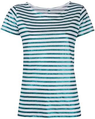 Majestic Filatures metallic stripe T-shirt