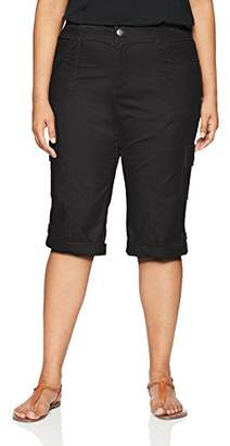 Lee Women's Plus Size Relaxed Fit Skye Knit Waist Cargo Capri Pant