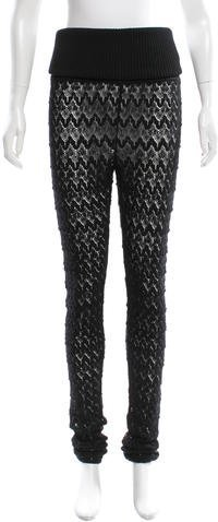 Missoni Open Knit High-Rise Pants w/ Tags