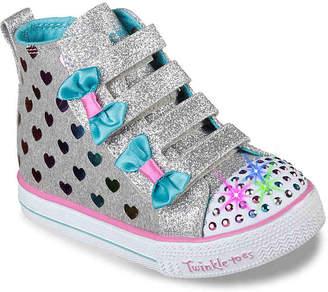 Skechers Shuffle Lite Fancy Flutters Toddler Light-Up High-Top Sneaker - Girl's