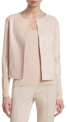 Akris Mixed Media Leather Jacket