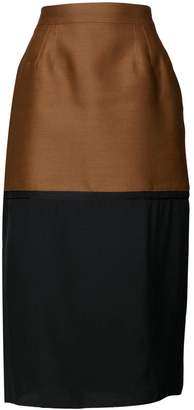 Rochas colour block pencil skirt
