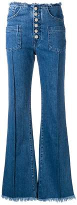 7 For All Mankind pocket detailed flared jeans
