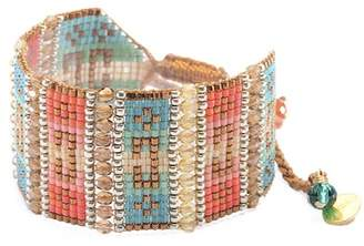 Mishky Nahui Beaded Slide Cuff Bracelet