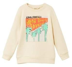 MANGO Printed picture sweatshirt