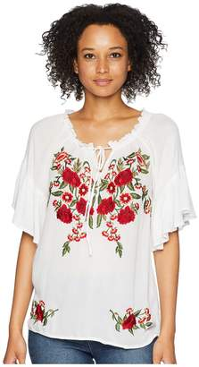 Scully Omalley Beautiful Embroidered Summer Top Women's Clothing