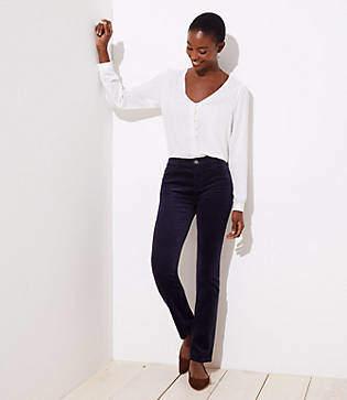 Loft Petite Modern Straight Leg Corduroy Pants