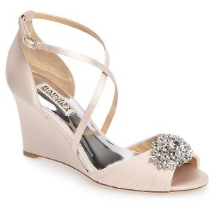 Women's Badgley Mischka Tacey Embellished Strappy Wedge Sandal $225 thestylecure.com