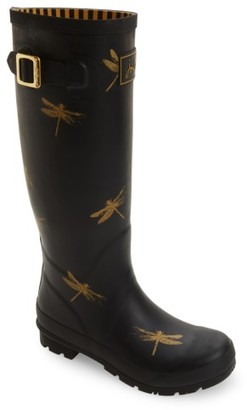 Women's Joules 'Welly' Print Rain Boot $74.95 thestylecure.com